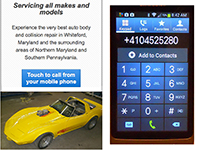 Create a Link to Place a Call from a Mobile Phone